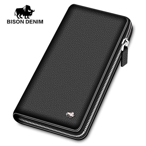BISON DENIM Zipped Wallet - BagPrime - Look Your Best with Amazing Bags