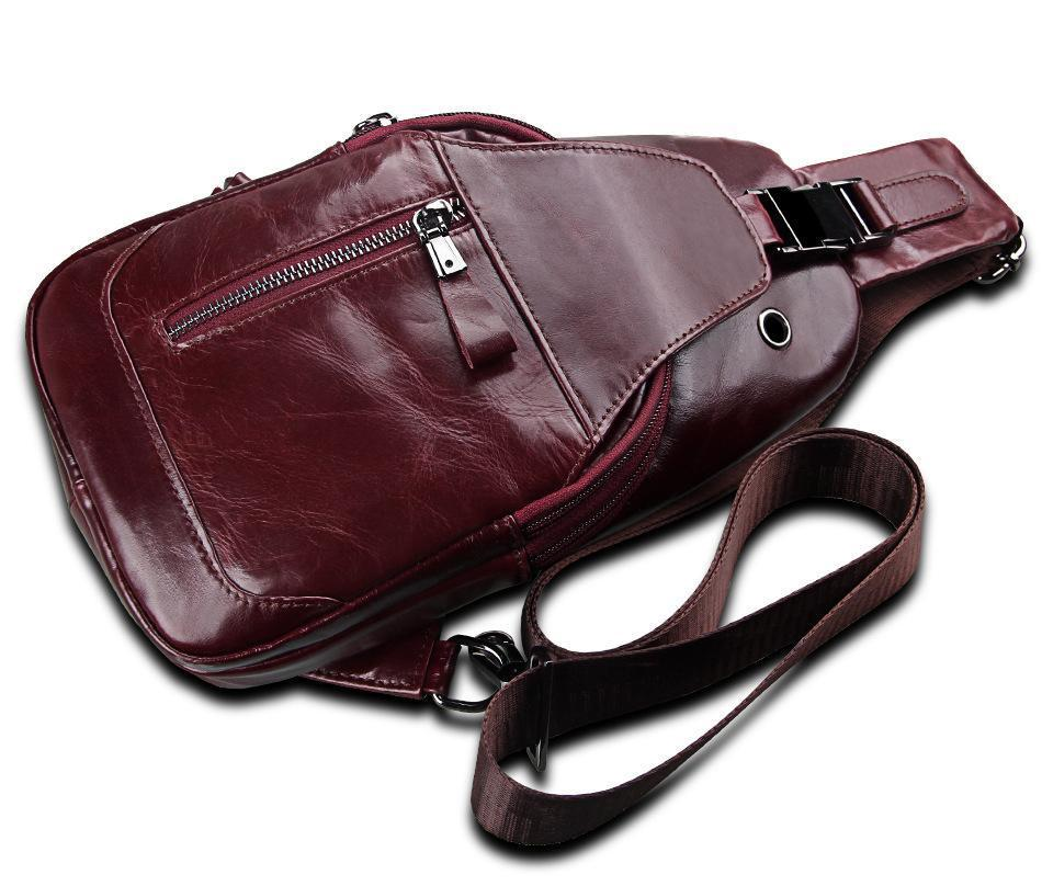 BONAMIE Rustic Leather Chest Bag - BagPrime - Look Your Best with Amazing Bags