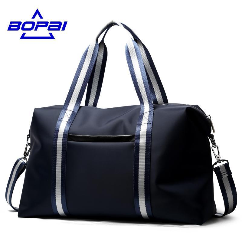 BOPAI Athletic Striped Duffel Bag - BagPrime - Look Your Best with Amazing Bags