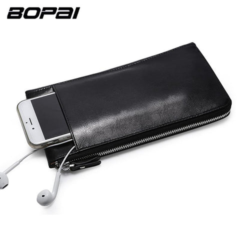 BOPAI Modern Edgy Leather Wallet - BagPrime - Look Your Best with Amazing Bags