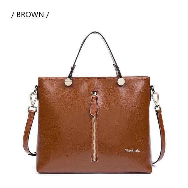BOSTANTEN Genuine Leather Office Handbag - BagPrime - Look Your Best with Amazing Bags