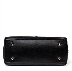 BOSTANTEN Genuine Leather Satchel Bag with Furball - BagPrime - Look Your Best with Amazing Bags