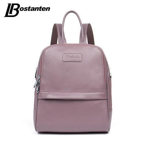 f75ebf4875aa BOSTANTEN Preppy Chic Genuine Leather Backpack - BagPrime - Look Your Best  with Amazing Bags