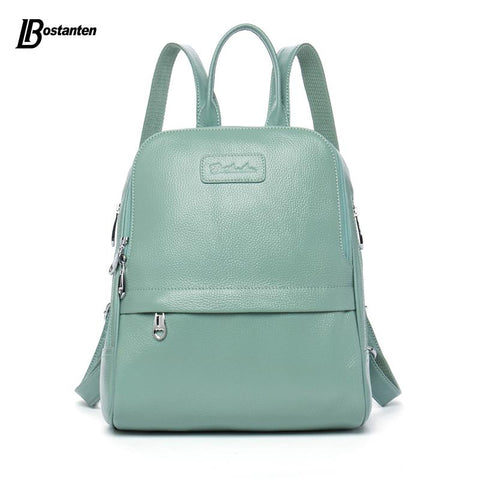 BOSTANTEN Preppy Chic Genuine Leather Backpack - BagPrime - Look Your Best with Amazing Bags
