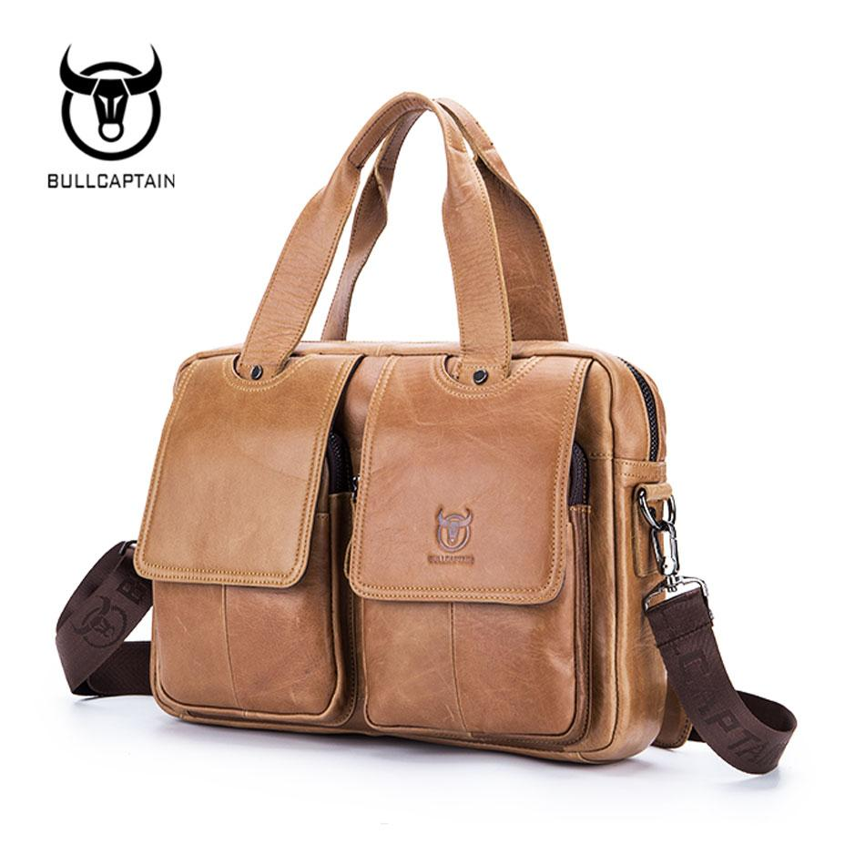 BULL CAPTAIN Genuine Leather Bag - BagPrime - Look Your Best with Amazing Bags