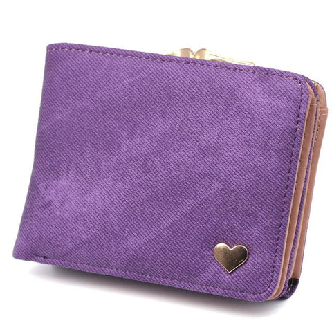 Casual Chic Canvas Wallet with Clasp - BagPrime - Look Your Best with Amazing Bags