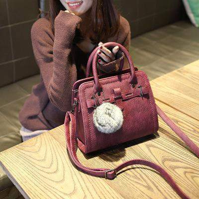 Casual Chic Crossbody Bag with Furball - BagPrime - Look Your Best with Amazing Bags