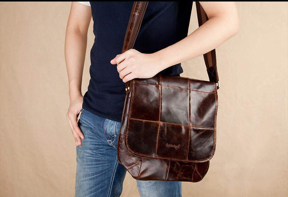 COBBLER LEGEND Checkered Messenger Bag - BagPrime - Look Your Best with Amazing Bags