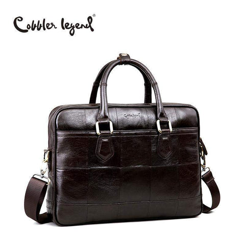 COBBLER LEGEND Leather Briefcase Bag - BagPrime - Look Your Best with Amazing Bags