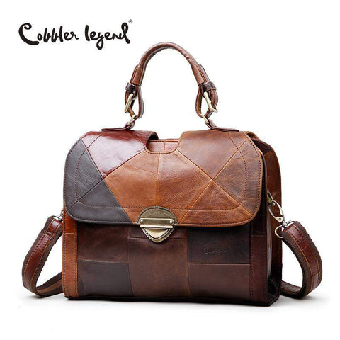 COBBLER LEGEND Patchwork Design Messenger Bag - BagPrime - Look Your Best with Amazing Bags