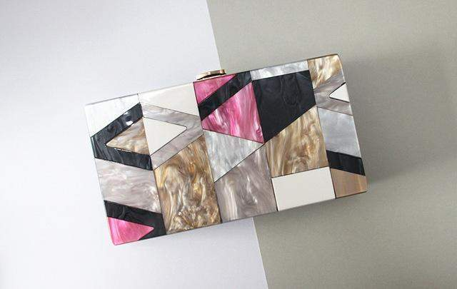 Cute Geometric Clutch - BagPrime - Look Your Best with Amazing Bags
