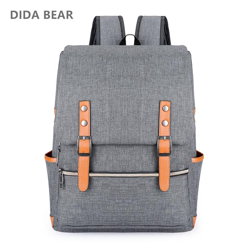 DIDA BEAR Retro Canvas Backpack - BagPrime - Look Your Best with Amazing Bags