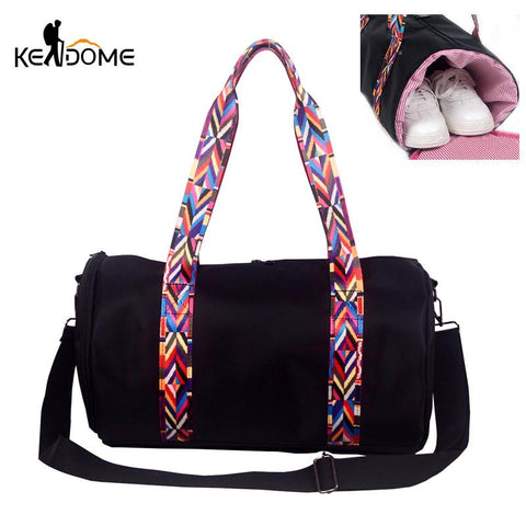 Duffel Bag with Colorful Strap - BagPrime - Look Your Best with Amazing Bags
