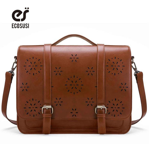 ECOSUSI Cut Out Design Retro Leather Bag for Women - BagPrime - Look Your Best with Amazing Bags