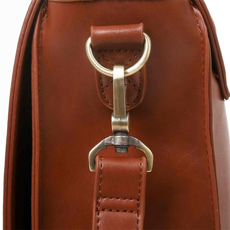 ECOSUSI Retro Leather Satchel Bag with Bow - BagPrime - Look Your Best with Amazing Bags