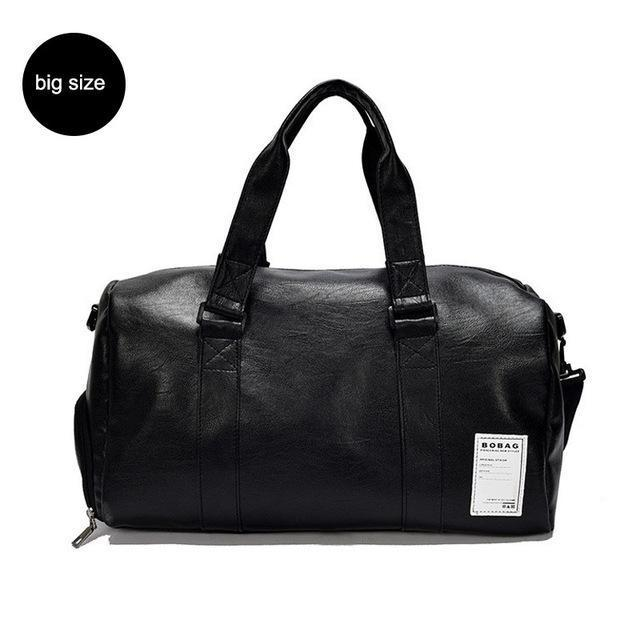 Edgy Leather Duffel Bag - BagPrime - Look Your Best with Amazing Bags