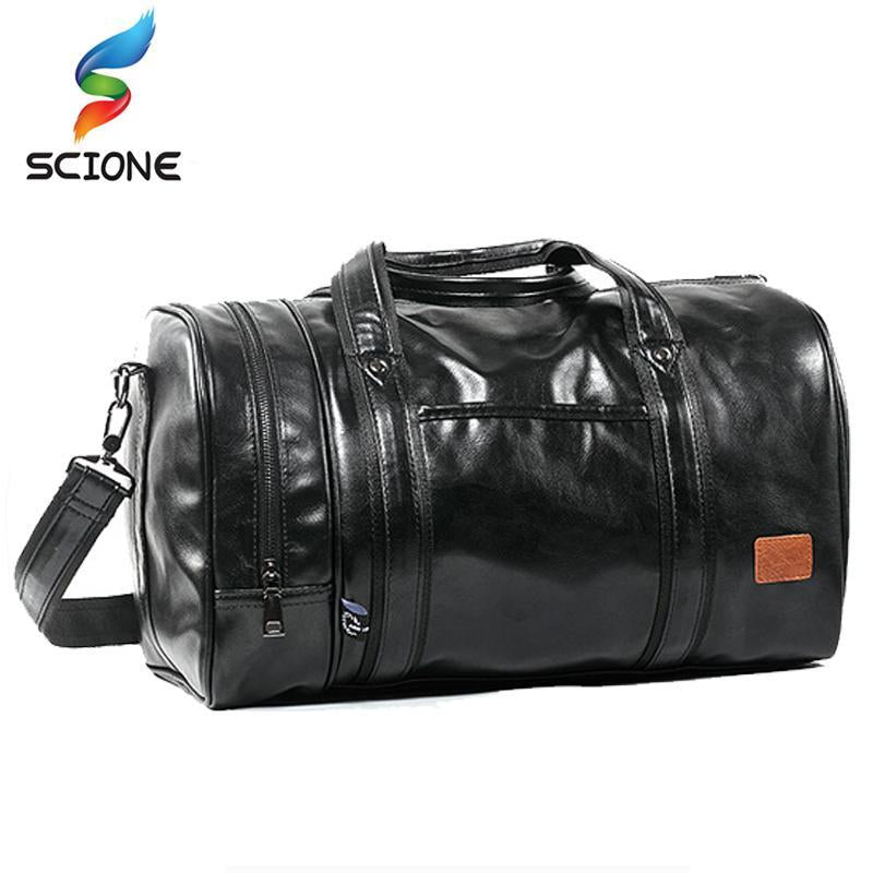 Edgy Leather Travel Bag - BagPrime - Look Your Best with Amazing Bags