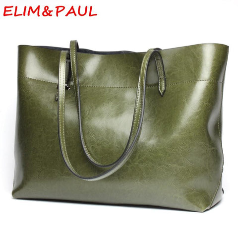 ELIM & PAUL Leather Shoulder Bag - BagPrime - Look Your Best with Amazing Bags