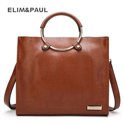 ELIM & PAUL Top-handle Tote Bag - BagPrime - Look Your Best with Amazing Bags