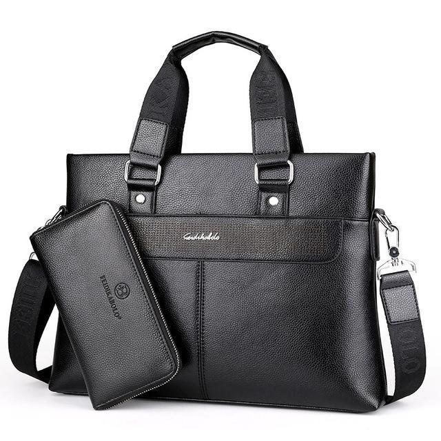FEIDIKABOLO Leather Business Bag - BagPrime - Look Your Best with Amazing Bags