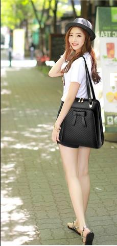 FEIYINOE Checkered Backpack with Bow - BagPrime - Look Your Best with Amazing Bags