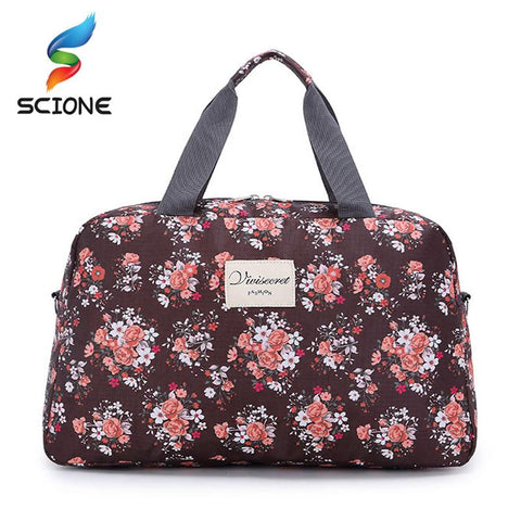 Floral Print Duffel Bag - BagPrime - Look Your Best with Amazing Bags