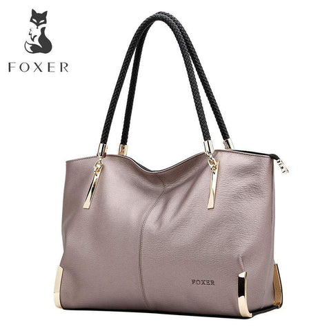 FOXER Leather Handbag - BagPrime - Look Your Best with Amazing Bags