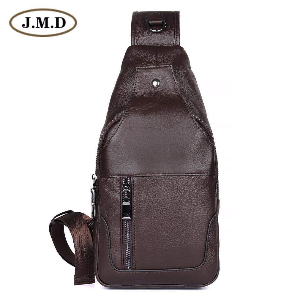 e478bb3fc86c Genuine Leather Sling Shoulder Bag for Men - BagPrime - Look Your Best with Amazing  Bags