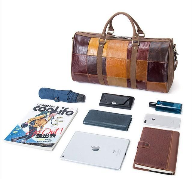 Genuine Leather Vintage Travel Duffel Bag - BagPrime - Look Your Best with Amazing Bags