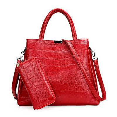 HANEROU Crocodile Embossed Bag for Women