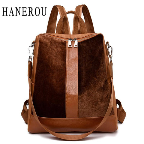HANEROU Patchwork Backpack - BagPrime - Look Your Best with Amazing Bags