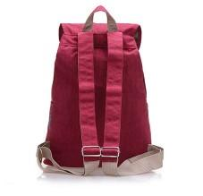 Casual Stylish Purple Red Preppy Cool Backpack- Back View