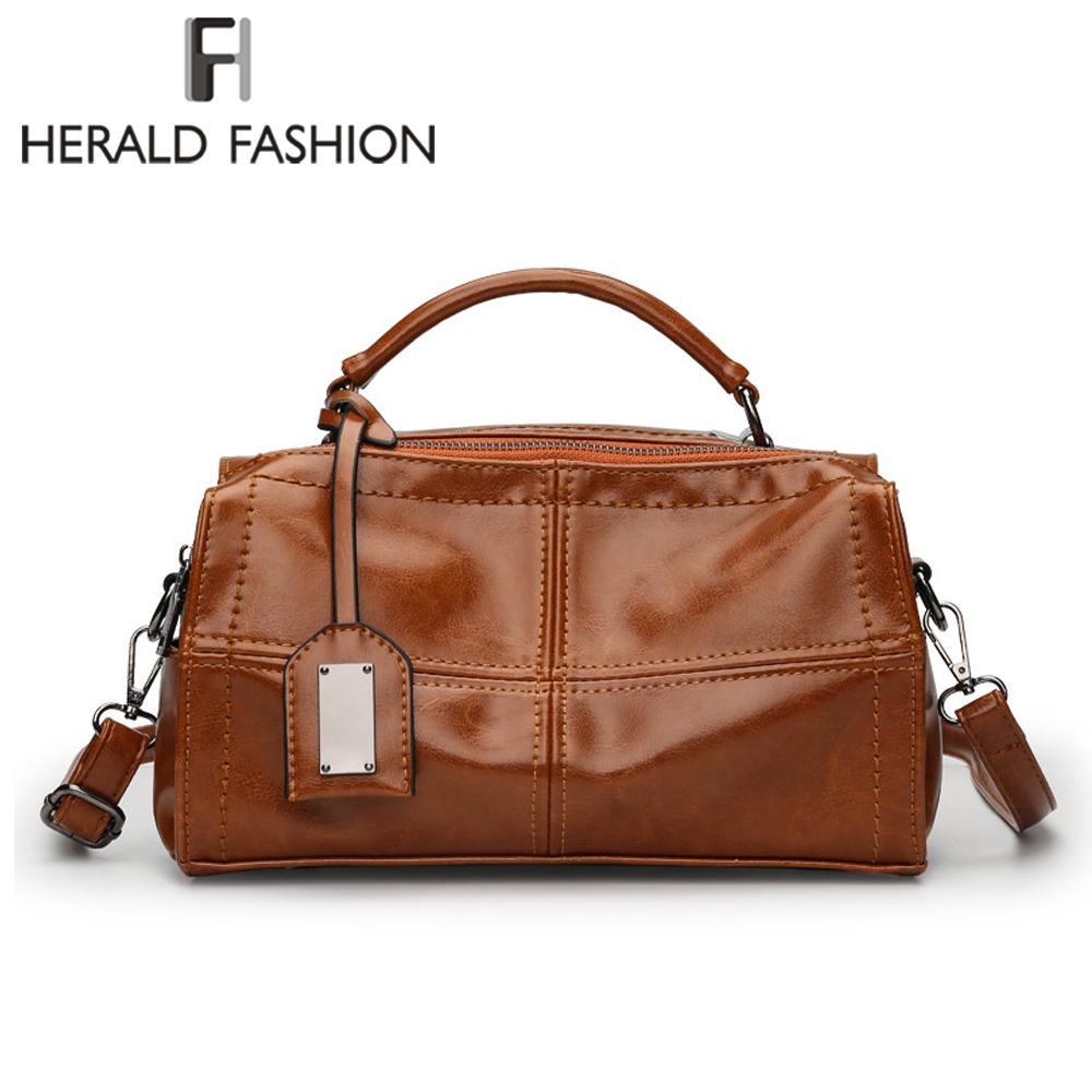 HERALD FASHION Checkered Bowling Bag