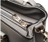 Casual Stylish Dark Gray Classic Satchel Bag-Close Top View