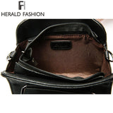 HERALD FASHION Leather Handbag with Tassel - BagPrime - Look Your Best with Amazing Bags