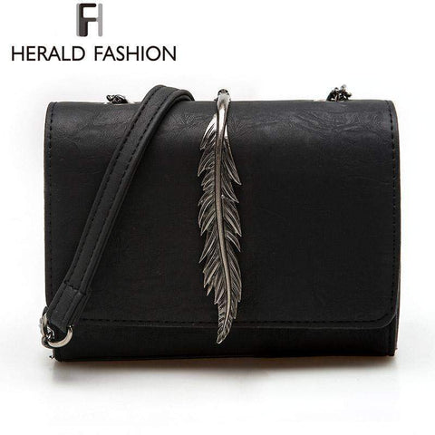 HERALD FASHION Messenger Bag with Leaf Decor - BagPrime - Look Your Best with Amazing Bags