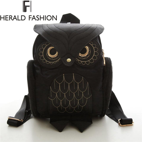 HERALD FASHION Owl Backpack - BagPrime - Look Your Best with Amazing Bags