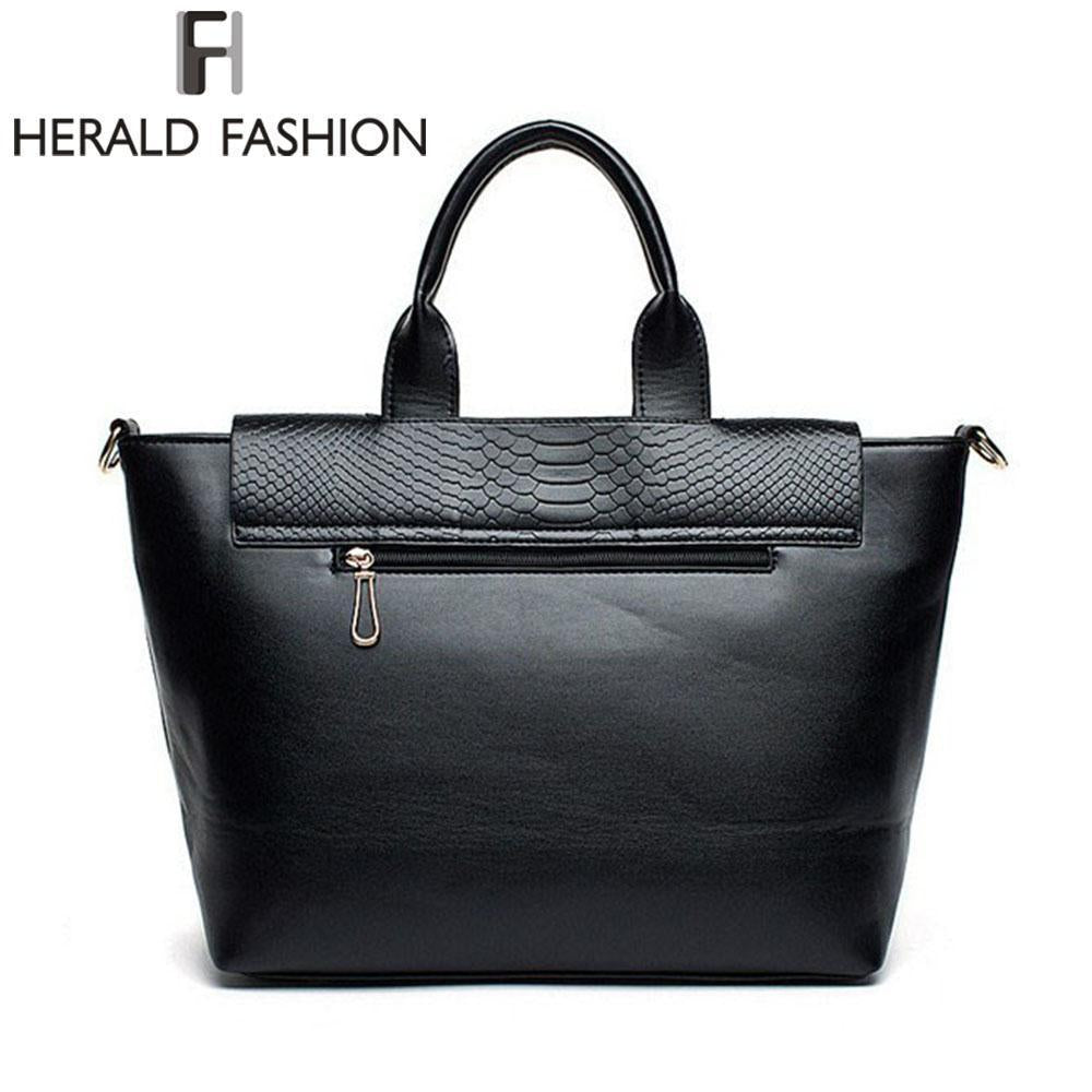 HERALD FASHION Snake Patterned Trapeze Bag - BagPrime - Look Your Best with Amazing Bags