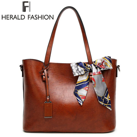 HERALD FASHION Tote Bag with Silk Bow - BagPrime - Look Your Best with Amazing Bags
