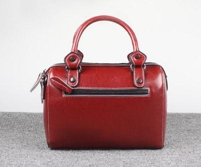 Casual Stylish Red Doctor's Bag-Back View