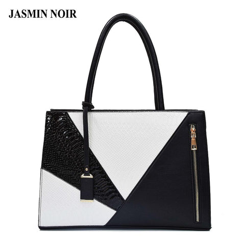 JASMIN NOIR Modern Colorblocked Shoulder Bag - BagPrime - Look Your Best with Amazing Bags