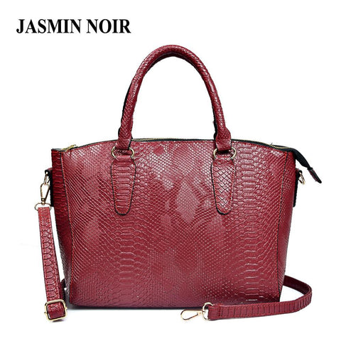 JASMIN NOIR Snake Patterned Satchel Bag - BagPrime - Look Your Best with Amazing Bags