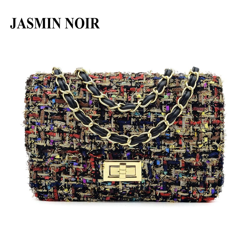 JASMIN NOIR Wool Messenger Bag - BagPrime - Look Your Best with Amazing Bags