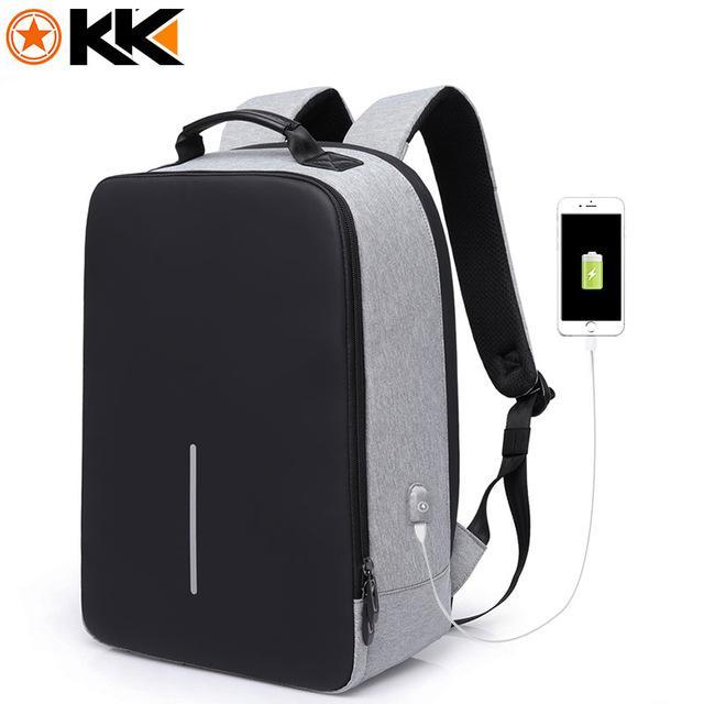 "KAKA 15.6"" Inches USB Charging Laptop Backpack-bag-BagPrime - Global Prime Bag Fashion Platform-Gray-15 inches-BagPrime - Global Prime Bag Fashion Platform"