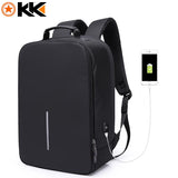 "KAKA 15.6"" Inches USB Charging Laptop Backpack-bag-BagPrime - Global Prime Bag Fashion Platform-Black-15 inches-BagPrime - Global Prime Bag Fashion Platform"