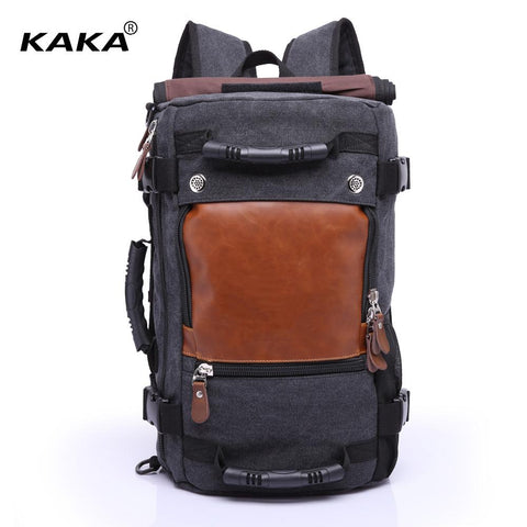 KAKA Utilitarian Travel Backpack-bag-BagPrime - Global Prime Bag Fashion Platform-Black-China-BagPrime - Global Prime Bag Fashion Platform