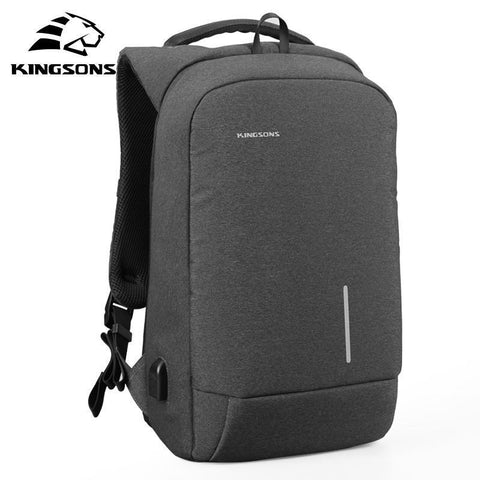 KINGSONS 13 15 Inch Men Laptop Backpack-bag-BagPrime - Global Prime Bag Fashion Platform-Dark Grey-Russian Federation-13 Inches-BagPrime - Global Prime Bag Fashion Platform