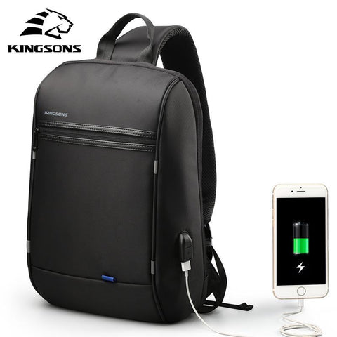 KINGSONS Sleek Black Backpack-bag-bagprime-BagPrime - Global Prime Bag Fashion Platform