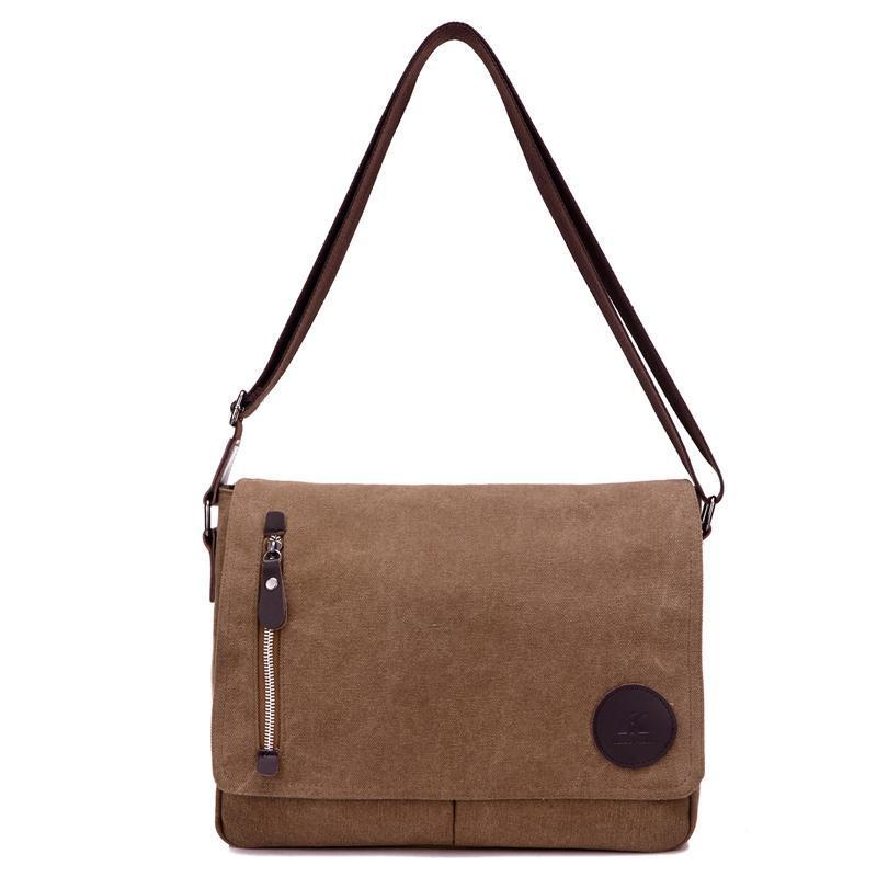KVKY Vintage Canvas Messenger Bag - BagPrime - Look Your Best with Amazing Bags