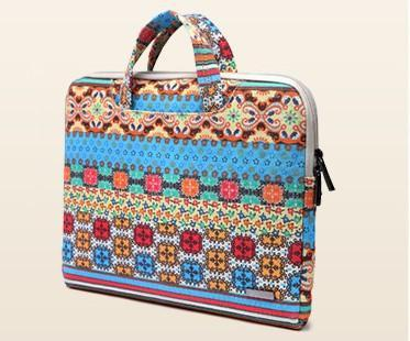 LISEN Graphic Print Multi Color Laptop Bag- Side View